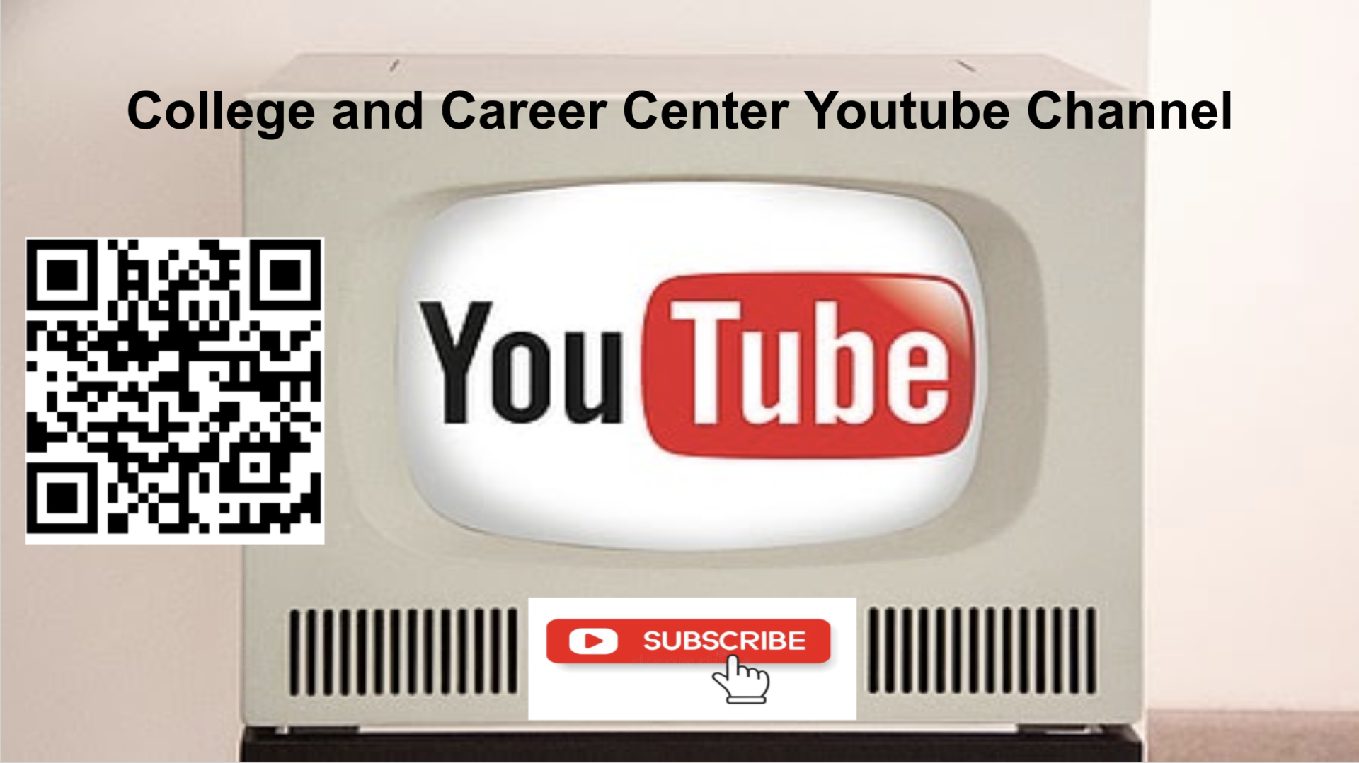 college and career center youtube channel qr code