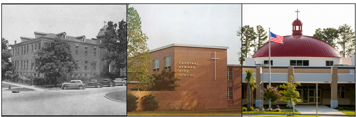 Photo of our three campuses from over the years