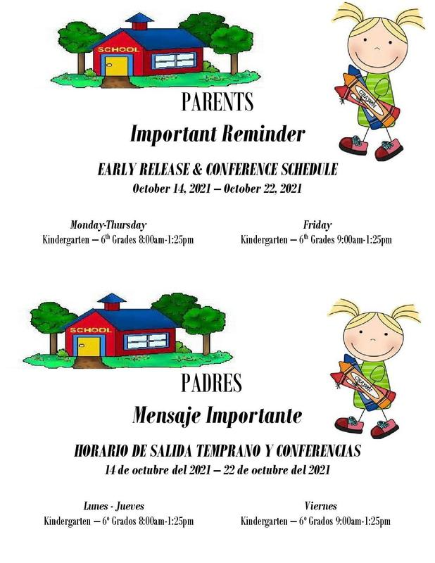 Parent Conferences October 14th -22nd