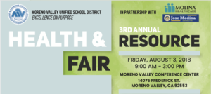 Health and Resource Fair flyer
