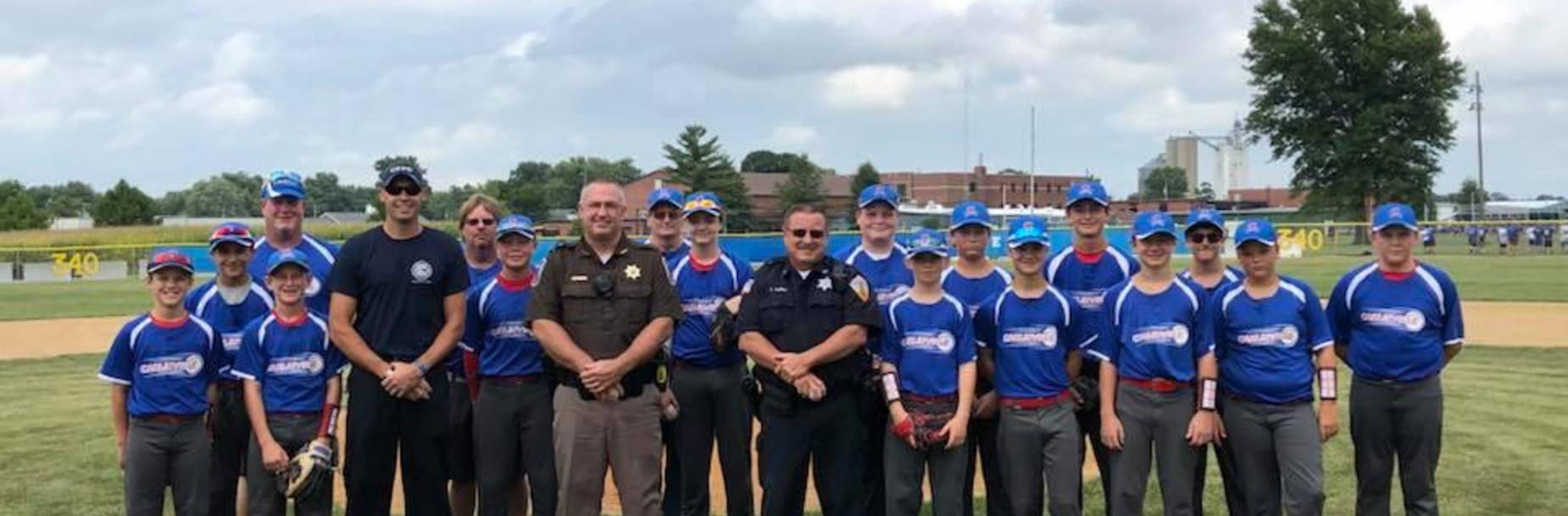 First responders at Middle School Baseball