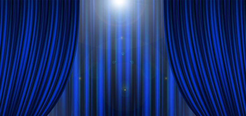 Stage Curtain and Light