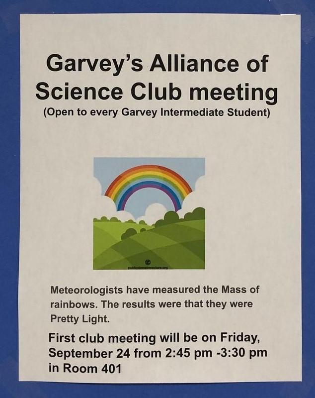 Science Club first meeting on 9/24 (Friday) Thumbnail Image