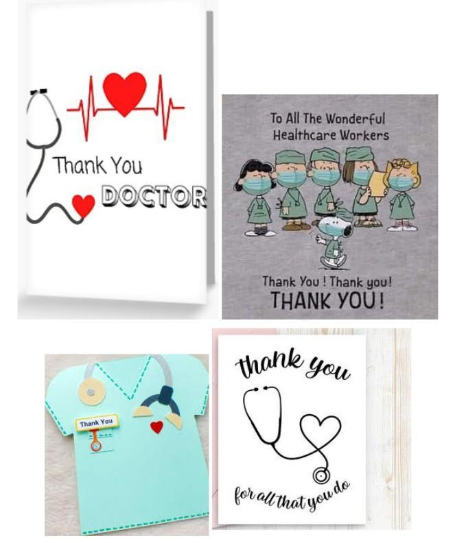 Make a Thank You card for medical professionals
