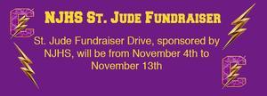 NJHS St. Jude Fundraiser Drive Nov 4 to Nov 13