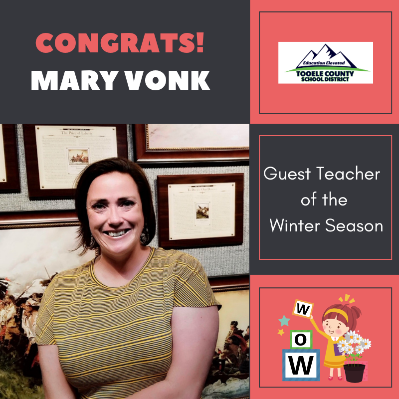 Guest Teacher of the Winter Season - Mary Vonk Thumbnail Image