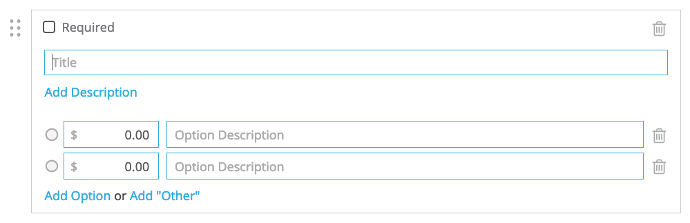 multiple choice payment field