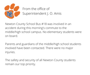 Announcement about Bus Incident