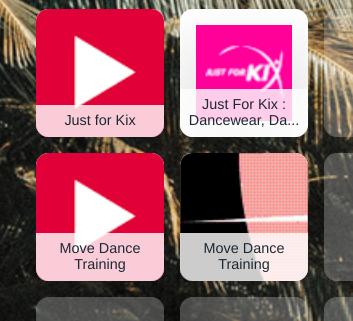 Tiles with Dance websites