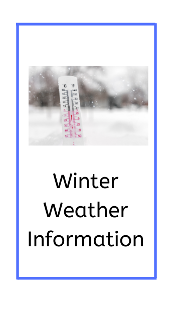 weather information banner showing a thermometer in snow