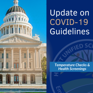 Covid Update with image of California Capitol