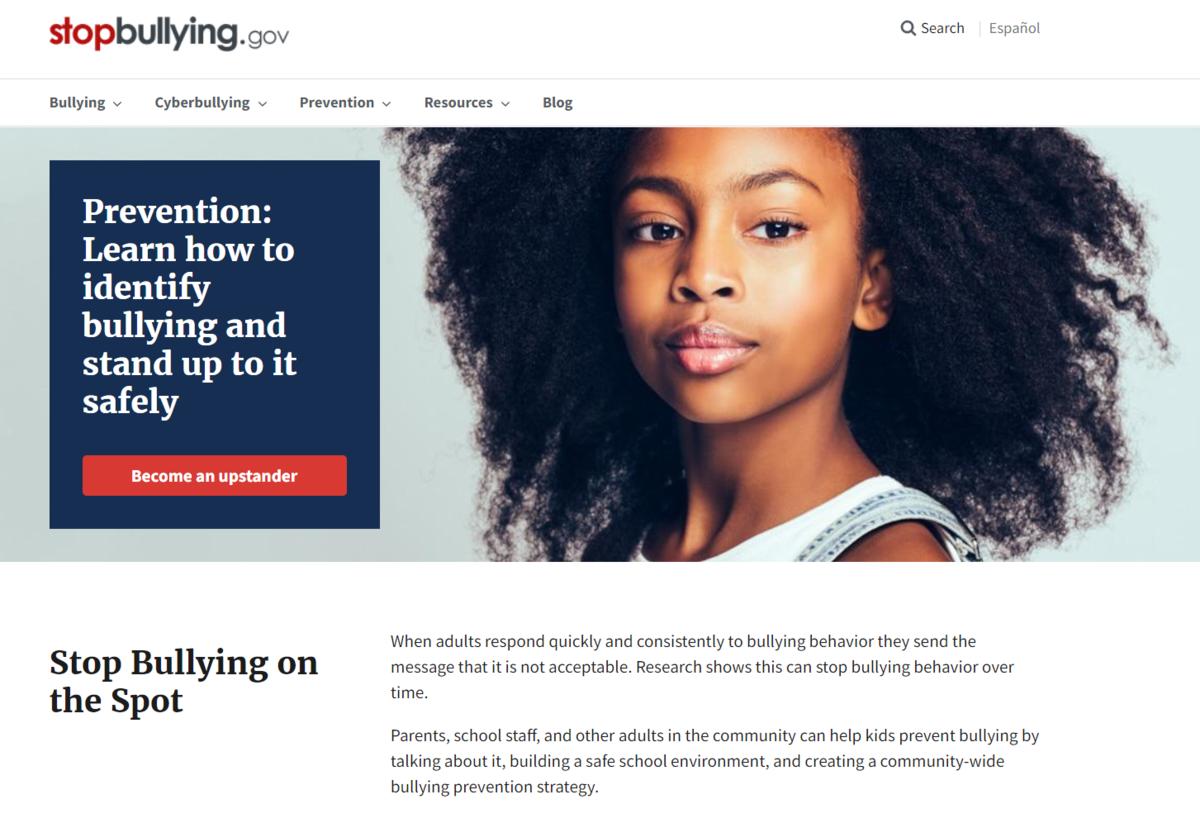 stop bullying website