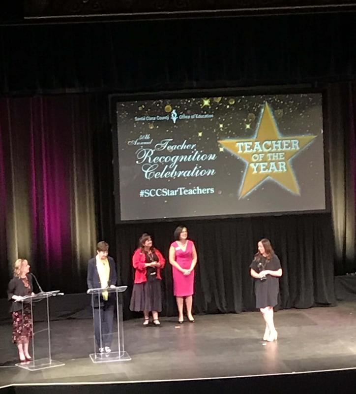 kira durant at teacher of the year recognition