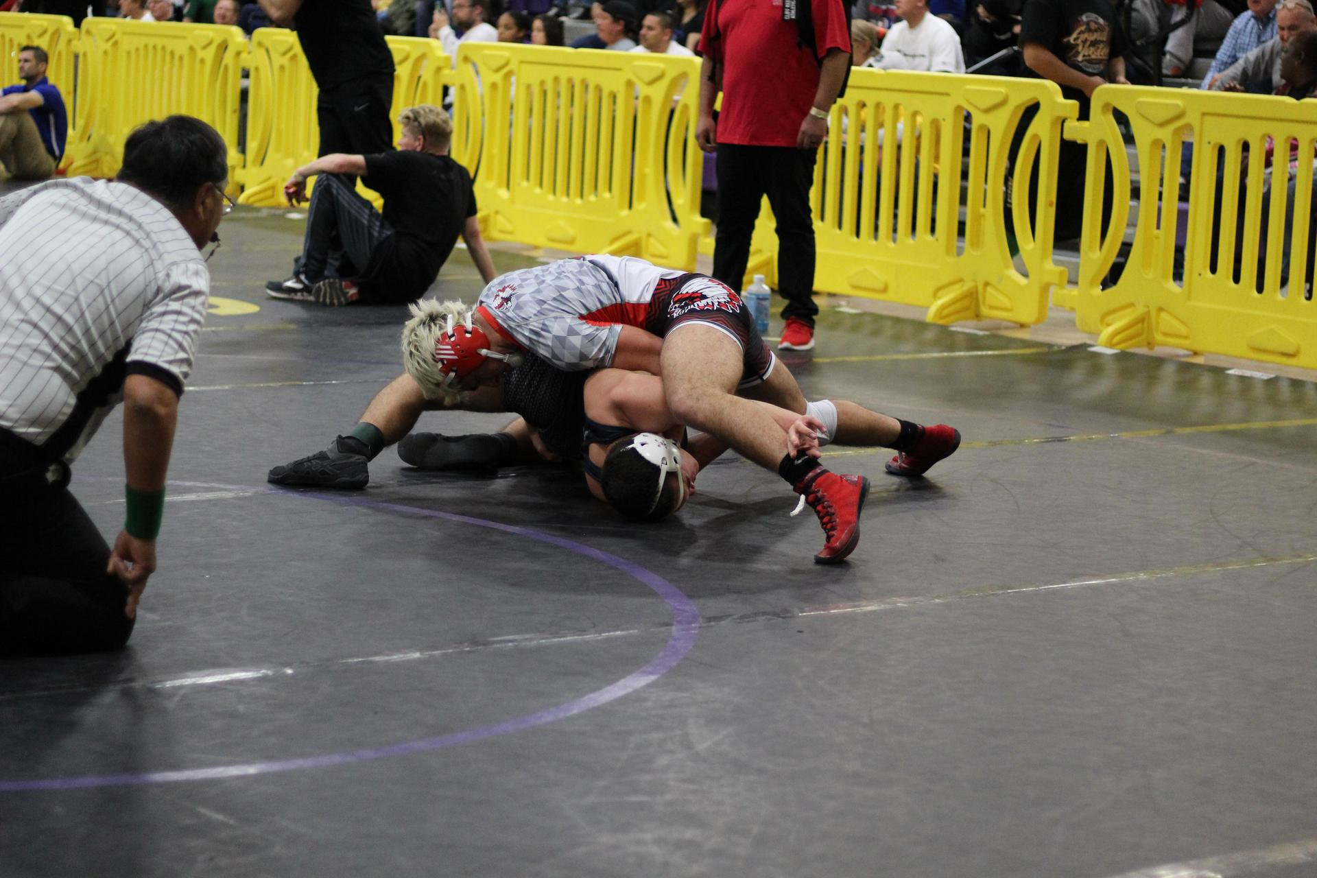 Chowchilla wrestlers at the Masters Meet