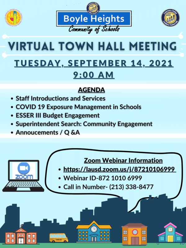 Virtual Town Hall Meeting/ Reunion Virtual Del Ayuntamiento Featured Photo