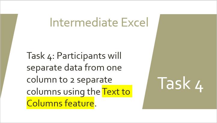 Text to columns Task 4