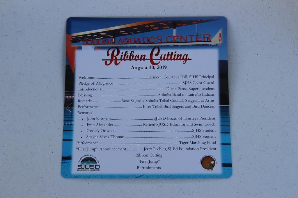 Pool Ribbon Cutting