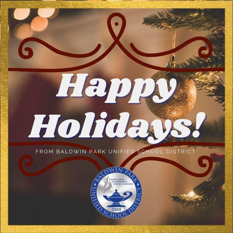 Happy Holidays from Superintendent Mendoza