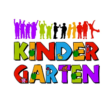 Colorful clipart that says Kindergarten