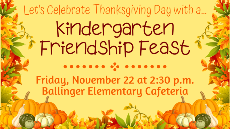 Kindergarten Friendship Feast