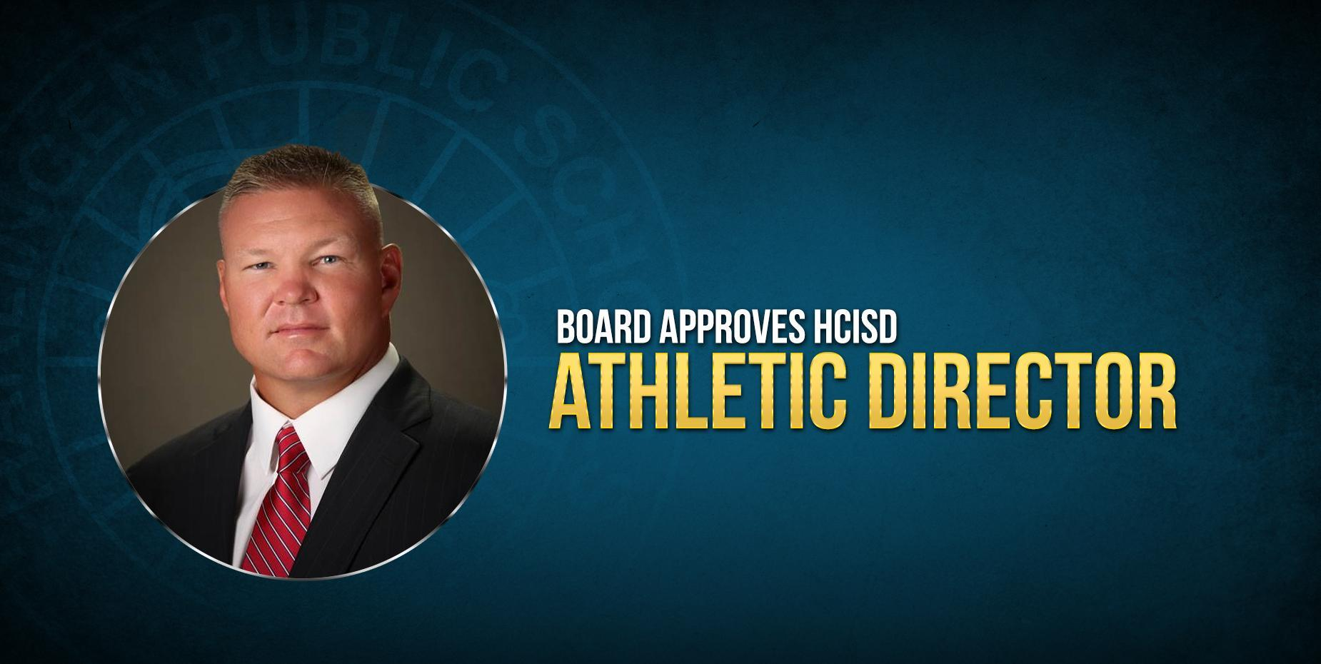 New athletic director's photo next to text