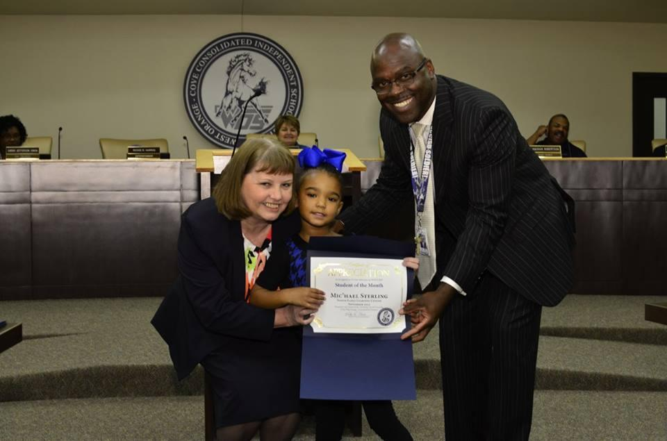 Mic'hael Sterling student of the month
