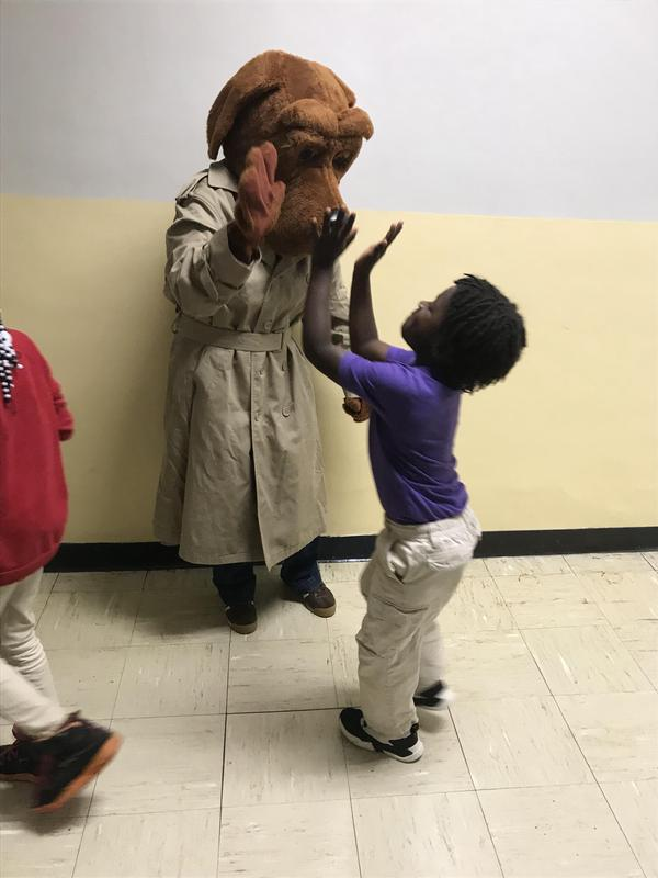 McGruff the Crime Dog Visits HES Featured Photo