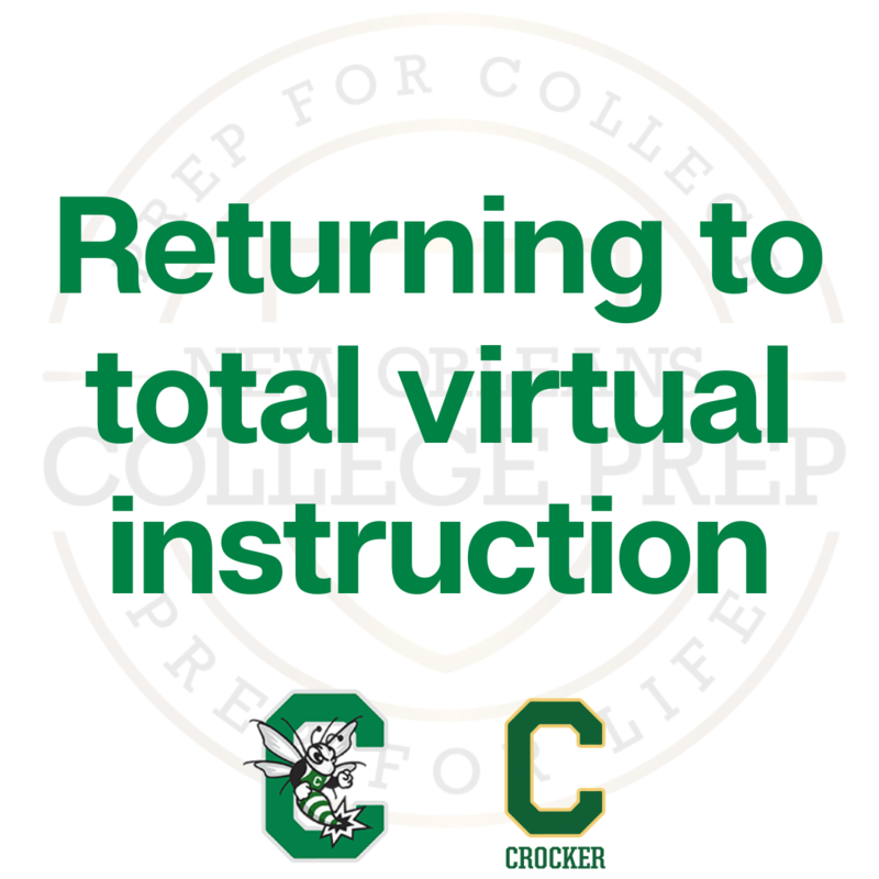 Virtual Instruction Update: Crocker College Prep and Walter L. Cohen College Prep Featured Photo