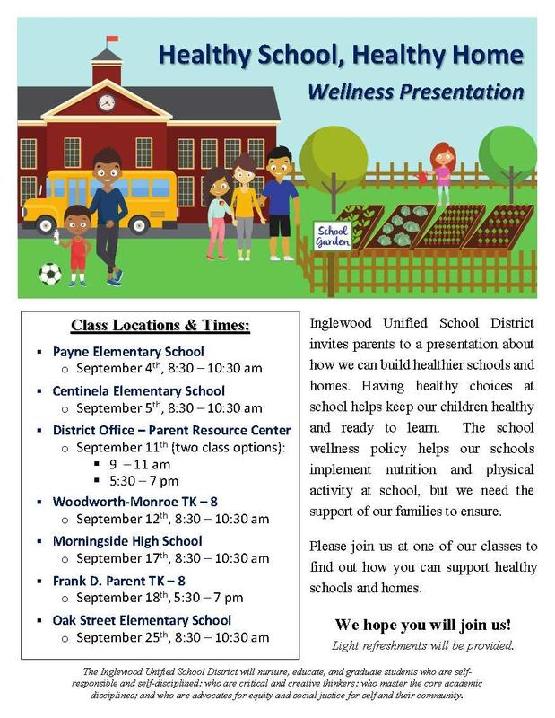 Healthy School, Healthy Home Flyer