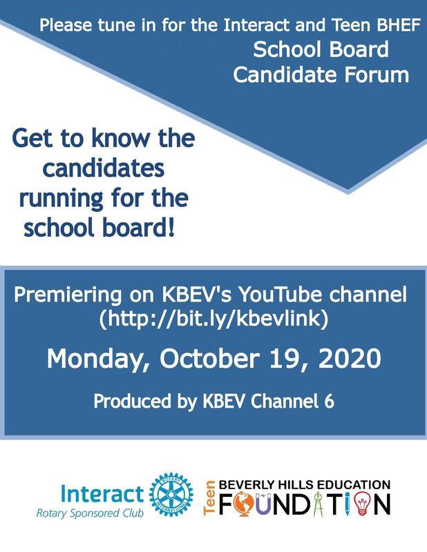 Teen BHEF Candidate Forum Flyer