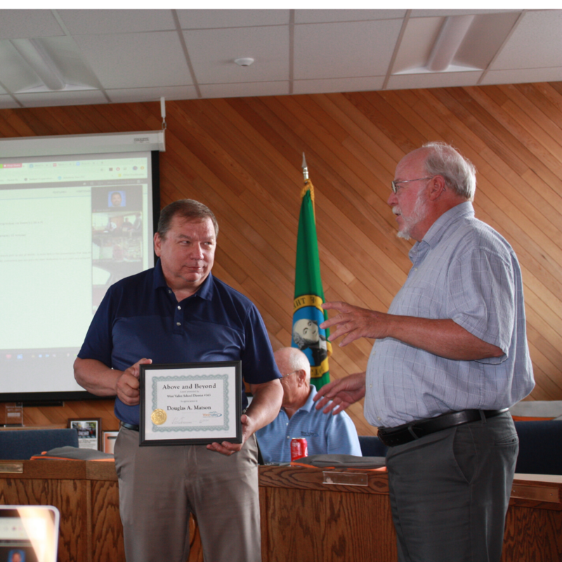 Mr. Matson Above and Beyond Award