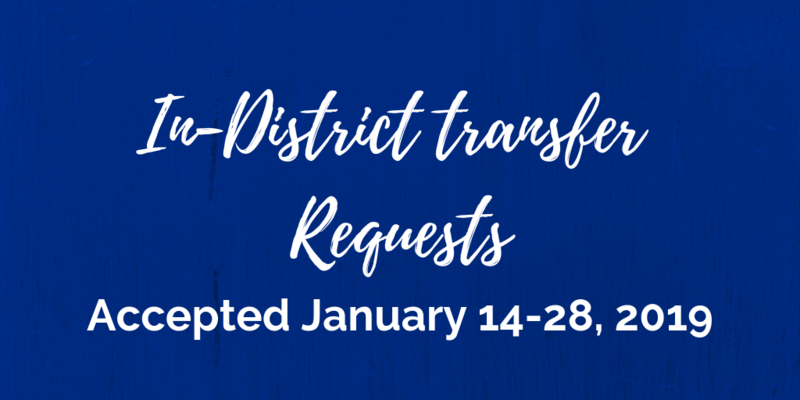 In-District Transfer Requests will be Accepted January 14-28, 2019 Thumbnail Image