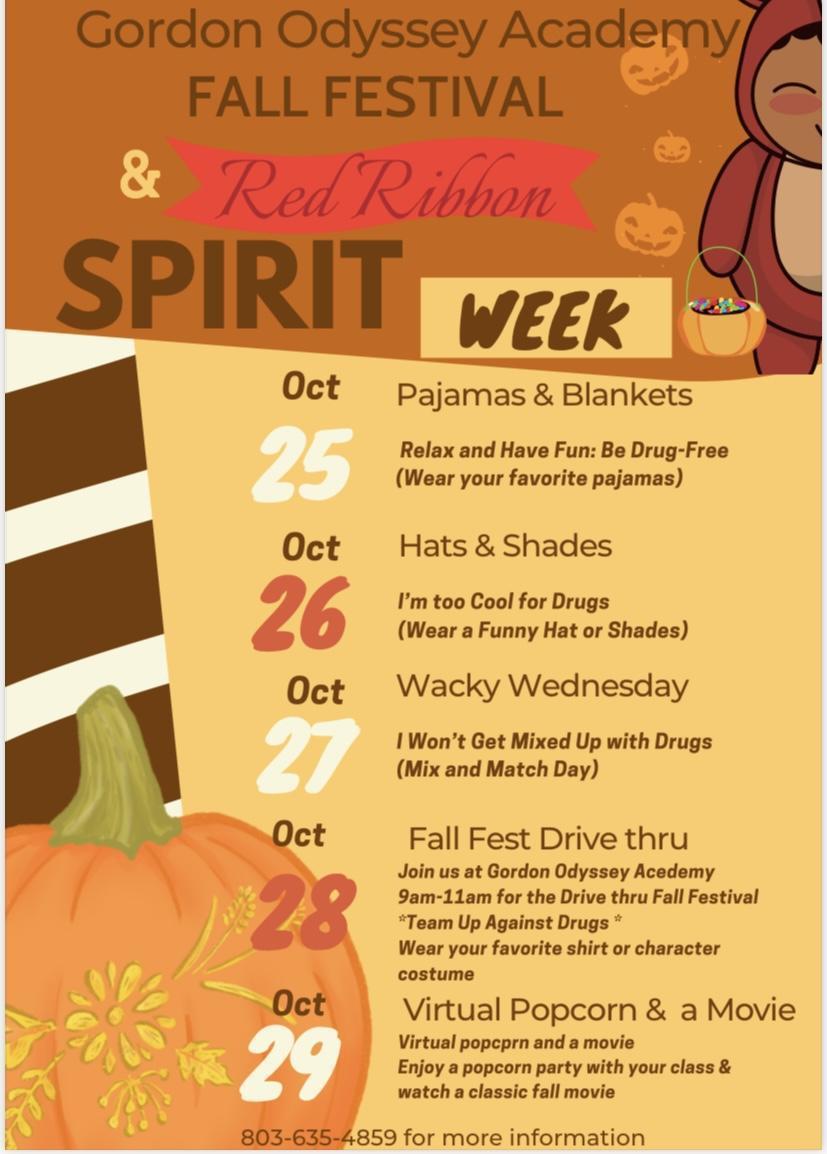 Flier for Spirit/Red Ribbon Week