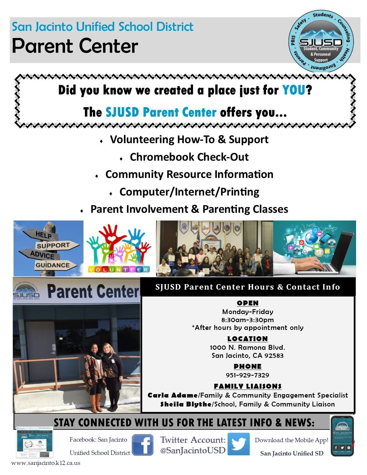 Parent Center Handout re Services