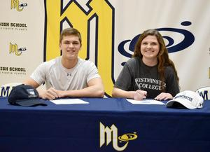 Mars Area seniors Caden Ferguson and Kaitlyn Pietrusinski signed letters of intent to continue their soccer careers at Marietta College and Westminster College, respectively.