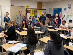French delegation visits Evans Community Adult School