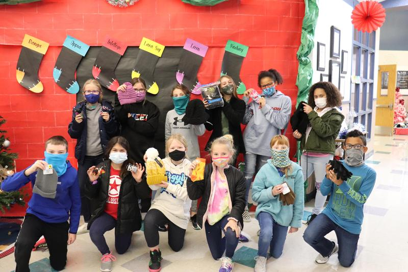 Dodd NEHS Hold Sock Drive, Donates 712 Items to Those in Need Featured Photo