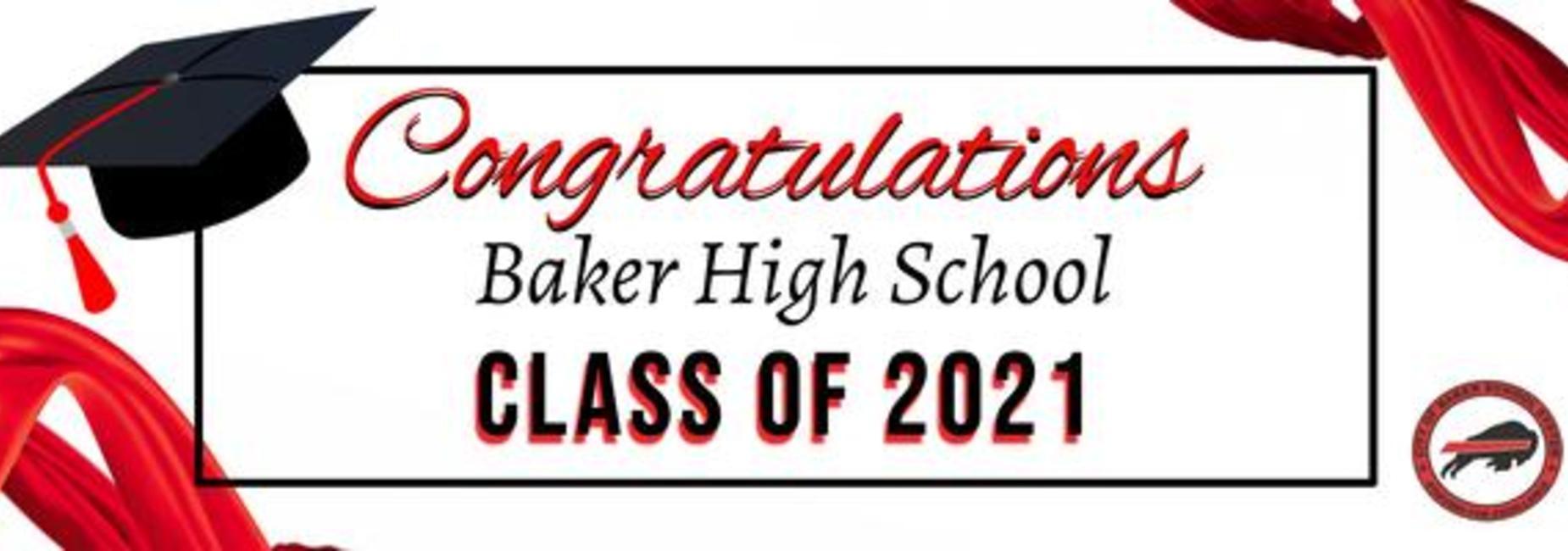 Baker High Graduation Banner