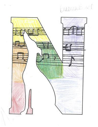 musical notes rainbow logo