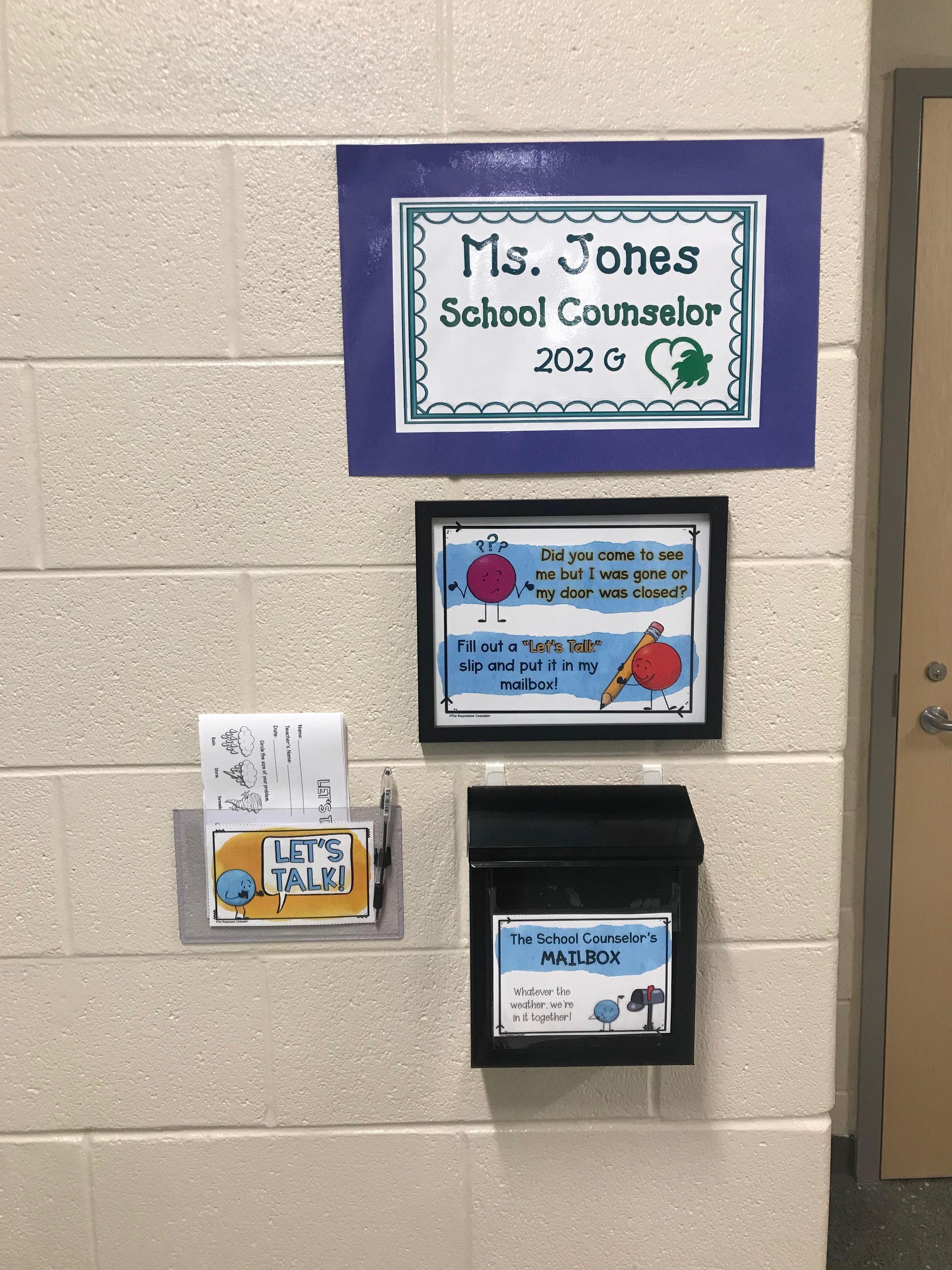 School Counselor Door