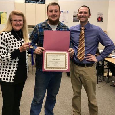 adult ed graduate, board president and adult ed teacher