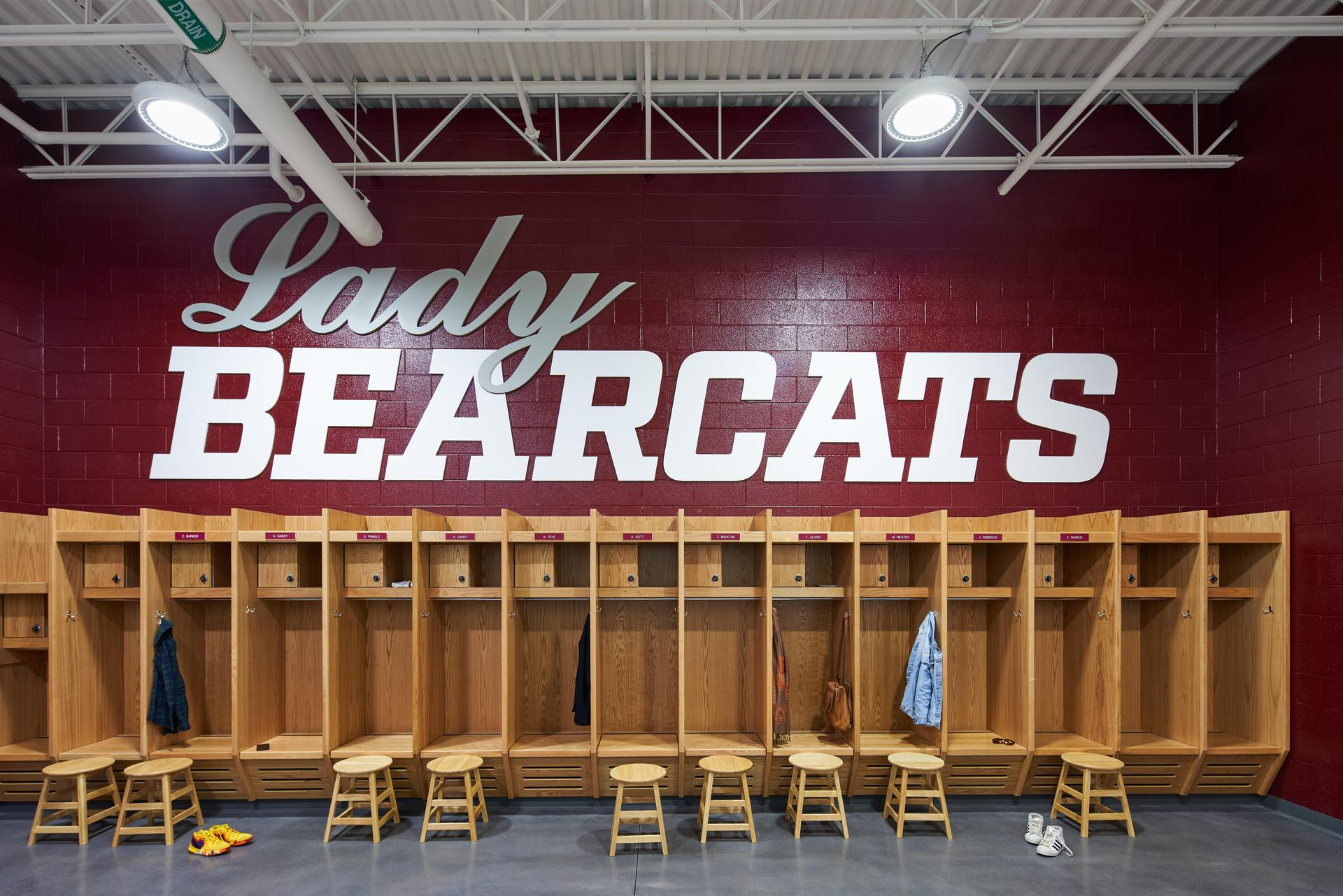 Lady Bearcats Locker Room at the new Brookland-Cayce High School Arena