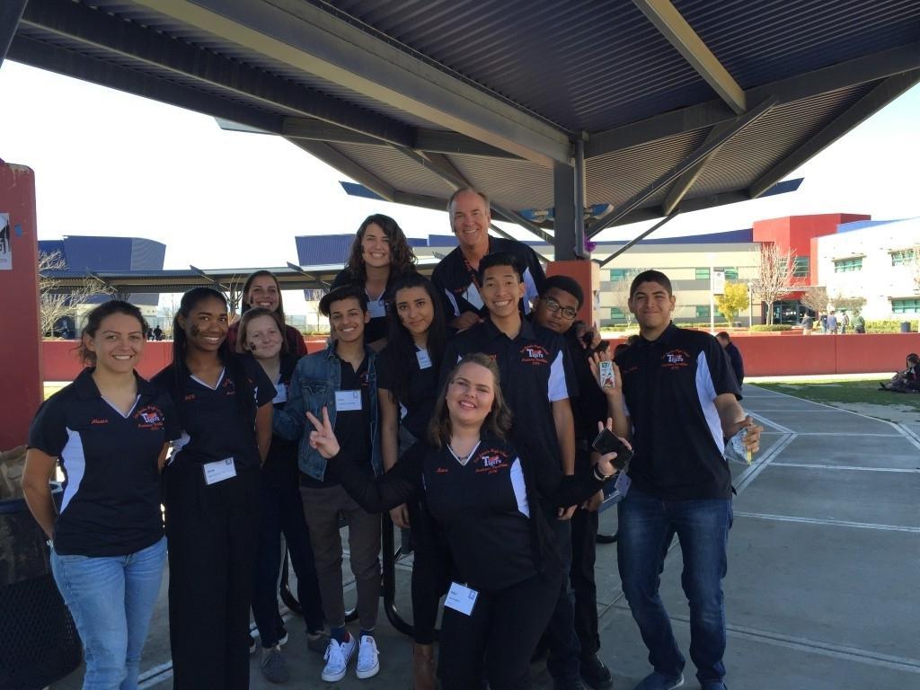Group photo of Academic Decathlon team