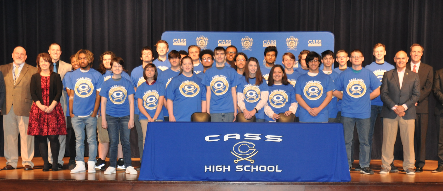 Cybersecurity cohort at Cass High School