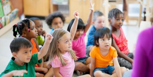 Diverse image of preschool students