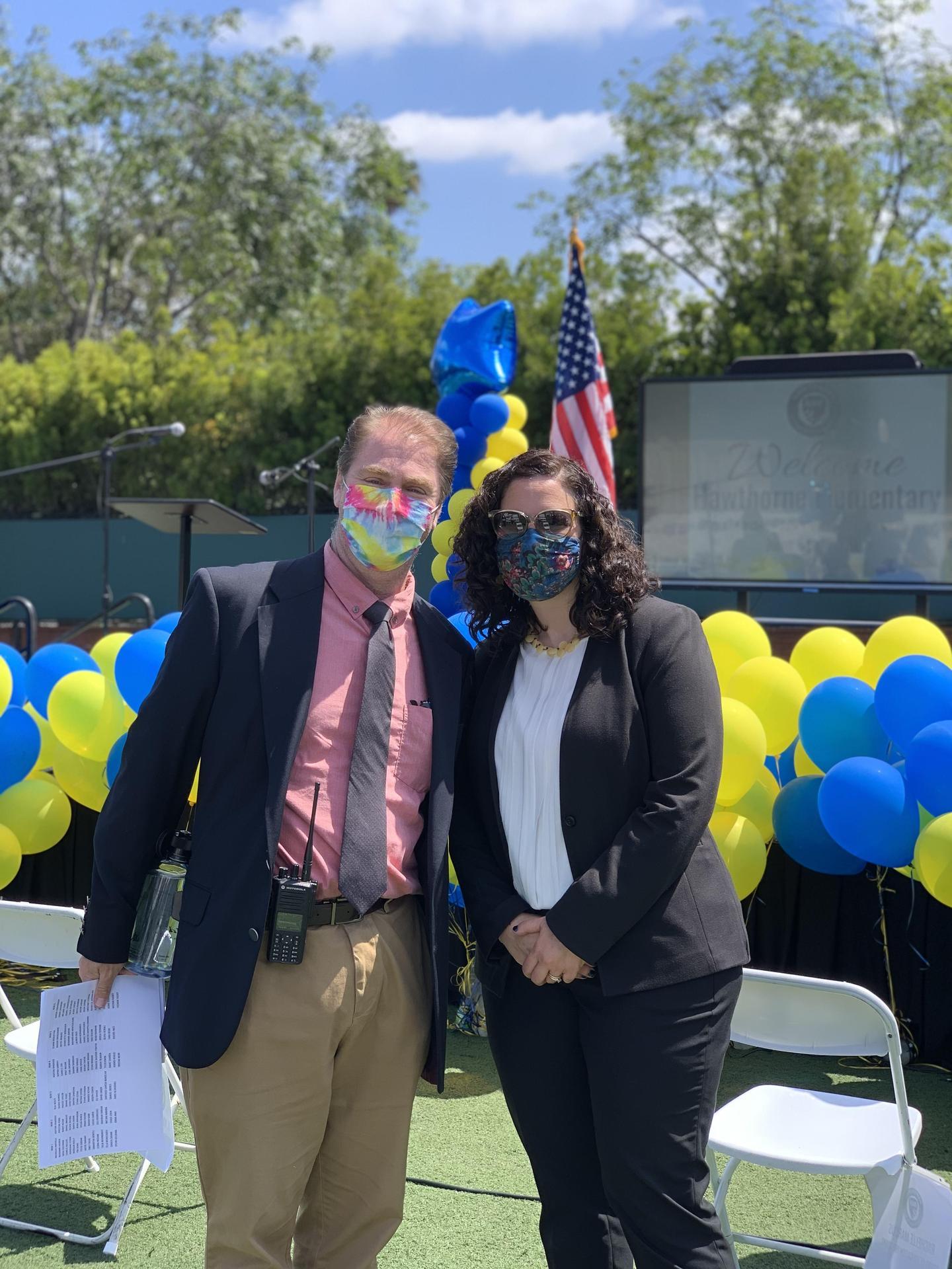 Principal Sarah Kaber and Assistant Principal Kevin Painter