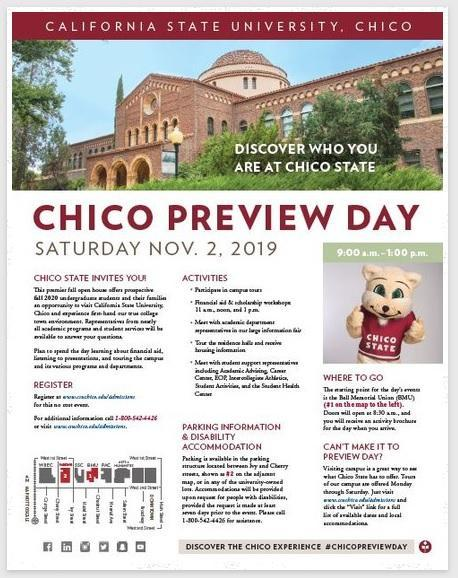 Chico State Preview Day
