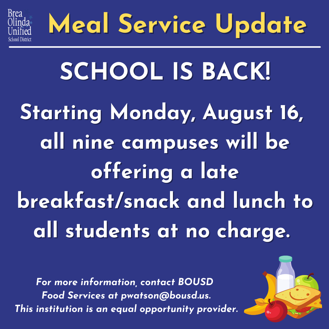 Meals At No Charge for 2021-22