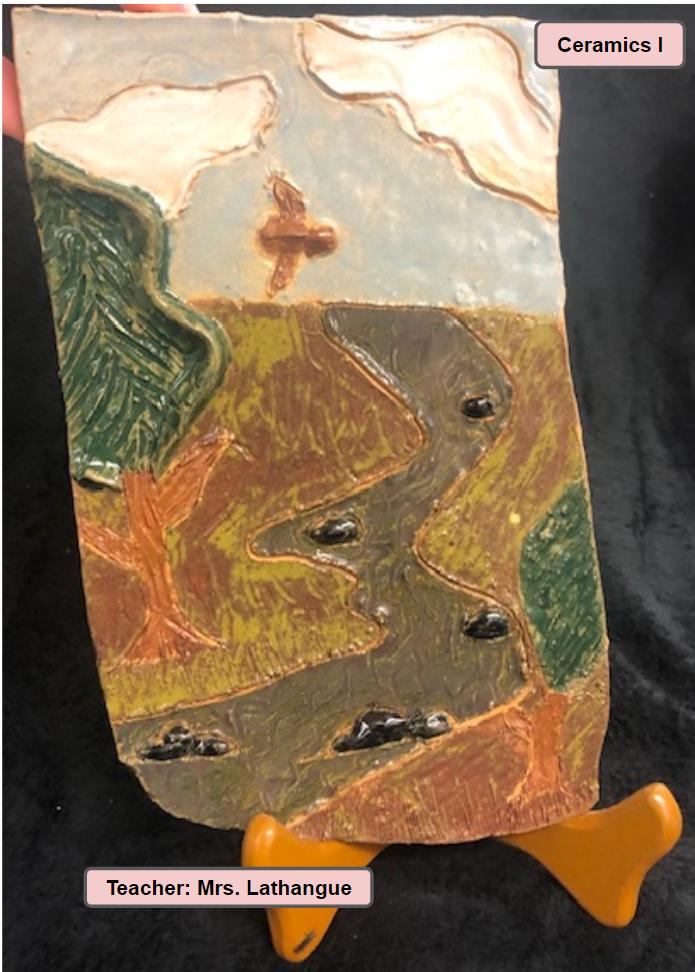 Ceramics One Art Class Project - Teacher Mrs. Lathangue - Landscape