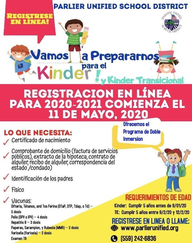 PUSD Kinder Registration Flyer 2020 Spanish.JPG